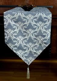 damask style elegant table runner banarsi designs