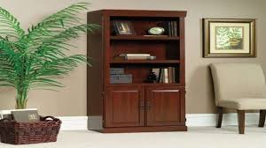 Sauder Cherry Bookcase by Sauder Bookcase With Glass Doors