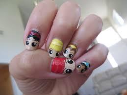 disney princess nail art from thumb to pinky ariel snow white