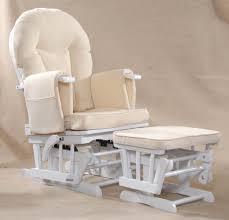White Glider Rocking Nursery Chair Sereno Wood Or White Nursing Glider Maternity Rocking