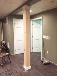 clever basement support pole cover up basement pinterest