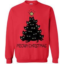 meowy christmas meowy christmas shirt sweatshirt hoodie allbluetees online t