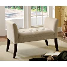 Fabric Bench For Bedroom Bedroom Design Serla Villa Button Tufted Fabric Bench At