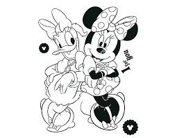 coloring pages of minnie mouse and daisy duck princess minnie mouse colouring pages and daisy duck coloring also