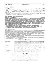 Training Resume Examples by It Manager Cv Example Sample Technology Resume Template Sample It