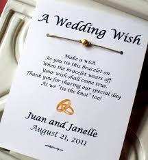 a wedding wish gold rings a wedding wish wish bracelet wedding favor