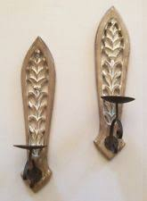 French Country Sconces French Country Pillar Candle Sconces Ebay