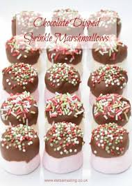 chocolate dipped marshmallows with sprinkles recipe a fun