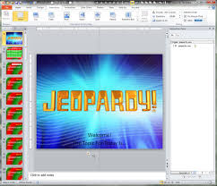 jeopardy powerpoint template with score making a jeopardy game