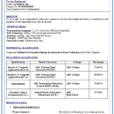 Resume Samples Download For Freshers by Simple Resume Format Download For Freshers
