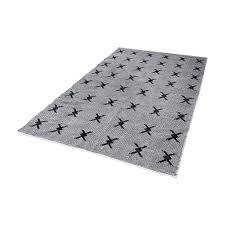 Cotton Flat Weave Rug Eton Handwoven Cotton Flatweave Rug In Black And White 5ft X 8ft