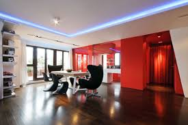 modern ceiling lights for dining room inspiring bright modern red dining room design with unique black