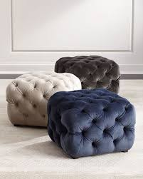 grace tufted cube ottoman
