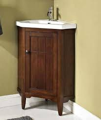 wooden corner bathroom vanity with legs space saver corner
