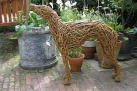 sculpture whippet sold size woven willow statue sculpture