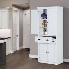 homcom kitchen pantry cupboard wooden storage cabinet organizer shelf white homcom 72inch wood kitchen pantry cabinet storage