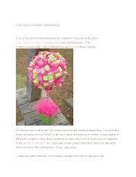 How To Make Ribbon Topiary Centerpieces by First Year In A Flash Centerpieces Sippy Cup Mom