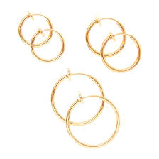 clip on hoop earrings 3 pack 10 15 and 20mm gold clip on hoop earrings s us