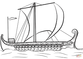 ancient greek ship coloring page free printable coloring pages