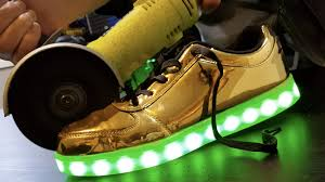 where can i buy light up shoes what s inside led shoes youtube