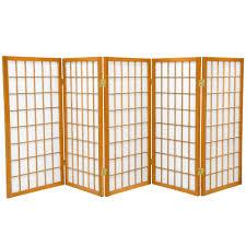 6 panel room divider 3 ft walnut 6 panel room divider dc36 wal 6p the home depot