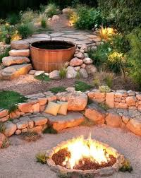 Rustic Landscaping Ideas For A Backyard Tub Landscaped With Pit Backyard Landscape Ideas