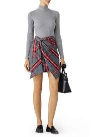 plaid skirt fiona plaid skirt by petersyn for 50 rent the runway