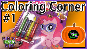my little pony halloween coloring corner by bins crafty bin