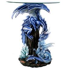 large blue dragon and baby dragon table home decor furnishing ebay