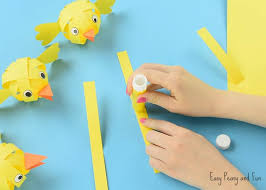 stick paper simple paper chick craft easter craft ideas easy peasy and fun