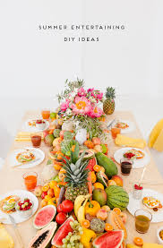 Summer Entertaining Ideas - let there be fruit veggies and peonies a fresh summer party