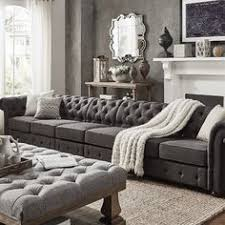 7 Seat Sectional Sofa knightsbridge tufted scroll arm chesterfield 7 seat l shaped