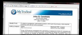 mytruseal samples background check verification cover letter