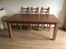 Solid Pine Ikea Forsby Solid Pine Dining Table In Leicester Leicestershire