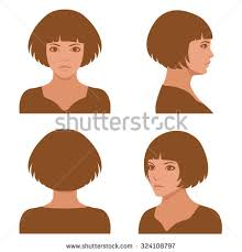 pictures of hairstyles for a full face vector girl hairstyles full face profile stock vector 324108797