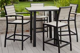 High Bar Table Set Patio High Top Table Excellent Black And White Square Outdoor Bar
