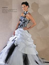 robe de mari e noir et blanc site officiel couture robe de mariée angélique collection