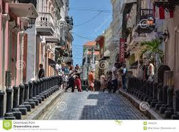 quaint caribbean town calle fortaleza san juan puerto rico