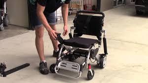 smartie portable folding electric wheelchair youtube