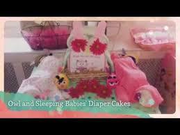 owl and sleeping babies u0027 diaper cakes youtube