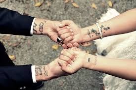 stunning wrist couples tattoos