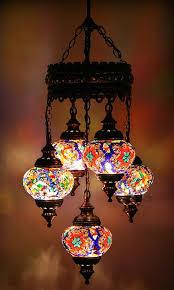 Turkish Chandelier 5 Balls Turkish Mosaic Chandelier L New Worldsaleslight On
