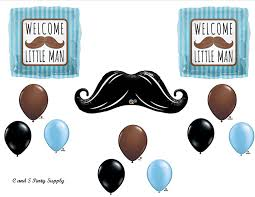 mustache baby shower theme welcome mustache baby shower balloons