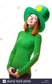 clover leprechaun hat on white background for a st patrick u0027s day
