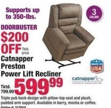 Catnapper Power Lift Chair Serta Massage Recliner 169 0 At Walmart On Black Friday