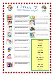 what u0027s the matter with you worksheet free esl printable