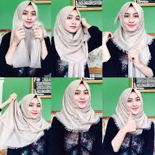 tutorial hijab pashmina untuk anak sekolah hijab muslim casual hijab style 6