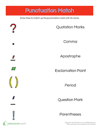 punctuation party 4th grade worksheets education com