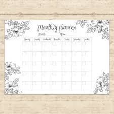 design planner monthly planner design vector free download