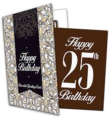 outstanding 25th birthday wishes 2016 happy 25th birthday chocolate greeting card co uk grocery